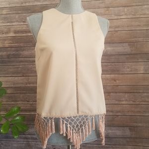 Endless Rose Sleeveless Tassel Top Size S